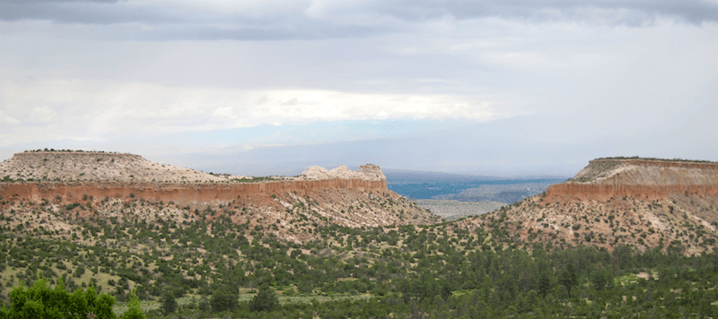 New Mexican desert mesa vista landscape