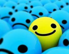 happy ball in a sea of sadness