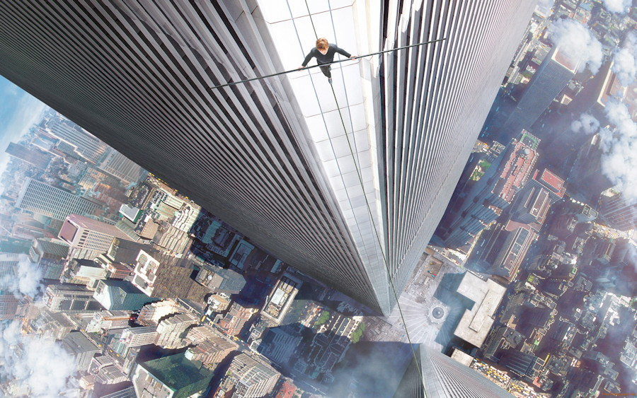the walk 2015 philippe petit high wire publicity still photo photograph