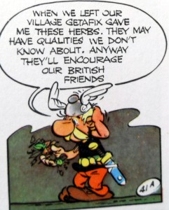 Asterix invents tea - briton english
