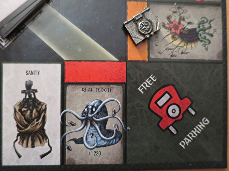 usaopoly - cthulhu monopoly - free parking