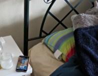 cellphone iphone bedside table bedroom teen teenager