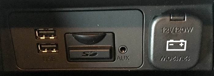 2016 mazda 3 plugs and connections in arm rest