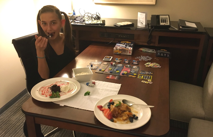 dessert bliss and a fun game at the embassy suites