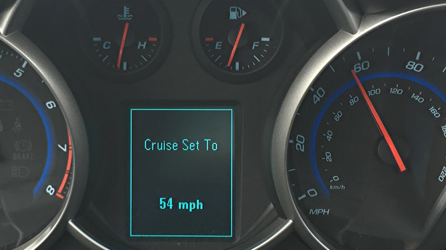cruise control on the 2015 chevy cruze