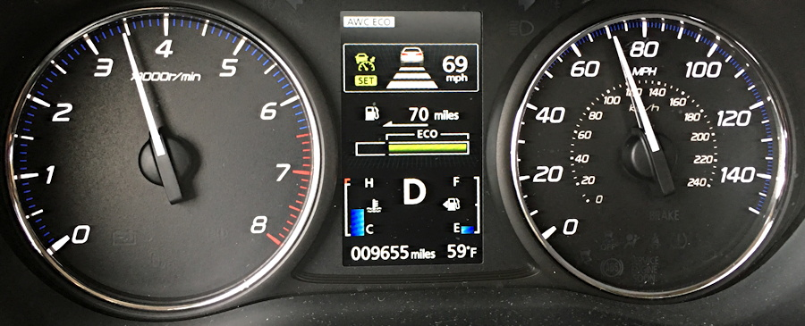 2016 mitsubishi outlander dashboard with cruise control