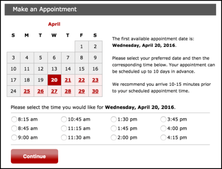 schedule your tire install / replacement at discount tires online