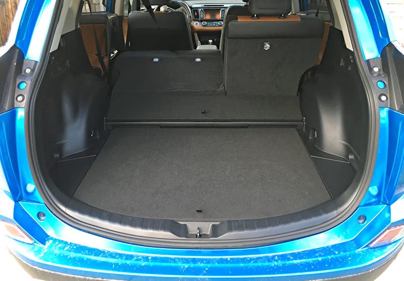 rear cargo area, rav4 hybrid