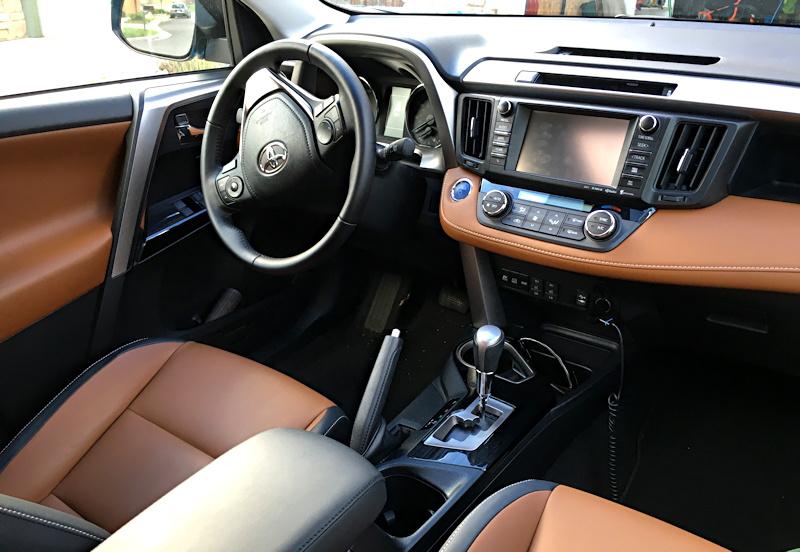 2016 toyota rav4 hybrid interior layout