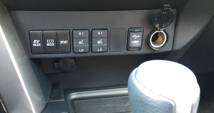 2016 toyota rav4 hybrid controls, dash well