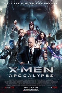 x-men apocalypse movie poster one sheet