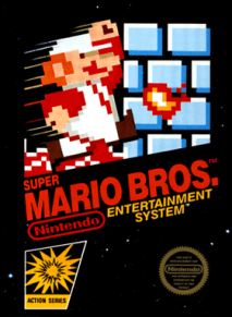 super mario bros for NES, original box packaging