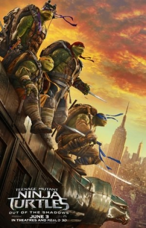 teenage mutant ninja turtles out of the shadows one sheet movie poster 2016