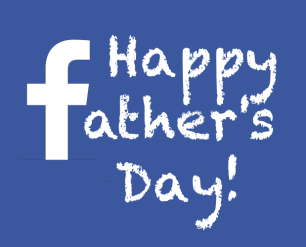 happy facebook logo father's day