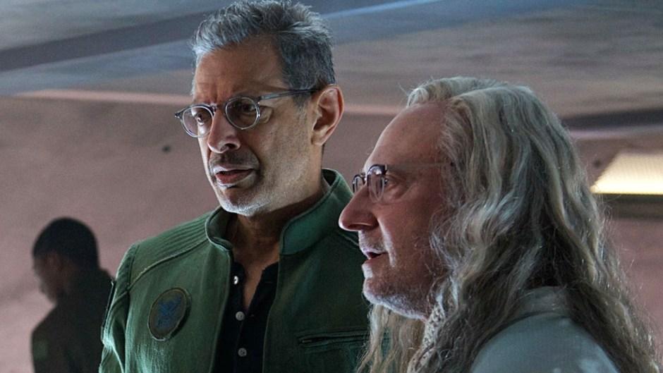 """David Levinson (Goldblum) and Dr. Okun (Brett Spiner), from """"Independence Day Resurgence"""""""