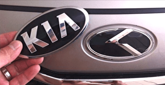 new kia medallion badge logo car hood symbol