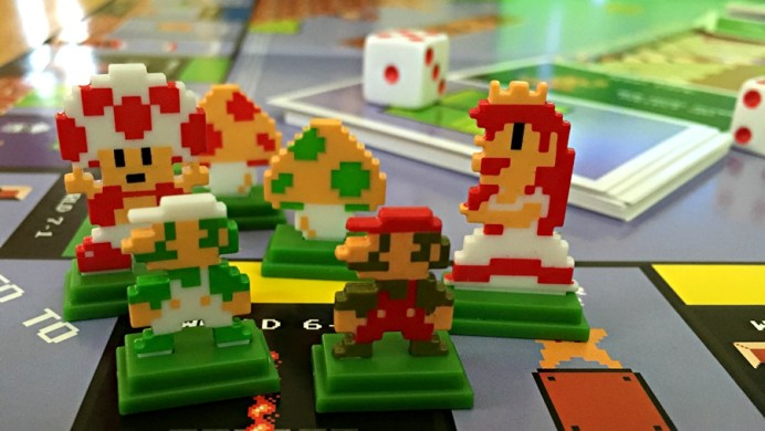 super mario bros monopoly collectible tokens