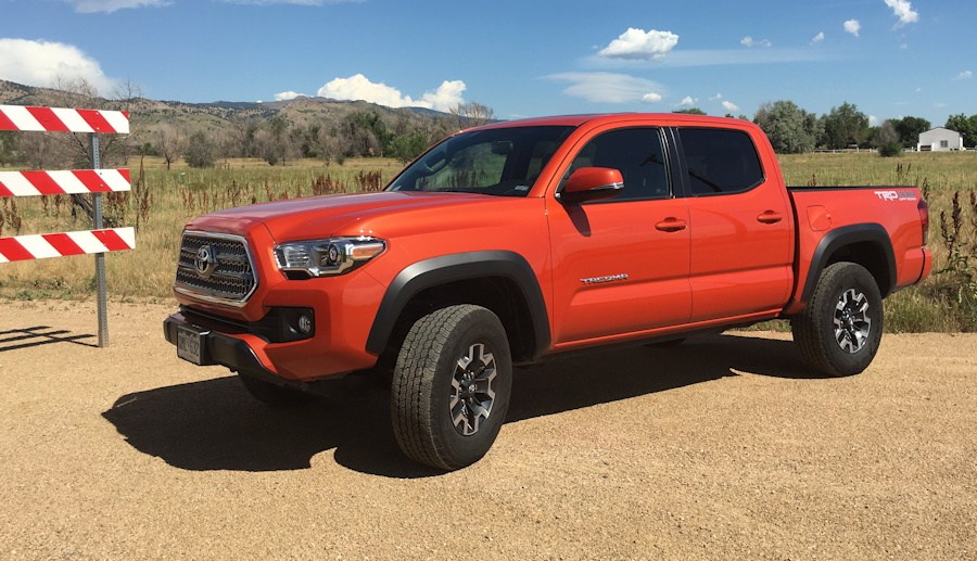 2016 toyota tacoma trd offroad 4x4 inferno orange