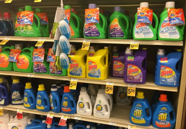 all free clear liquid on store shelf, safeway
