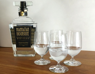 review: manhattan moonshine clear whiskey