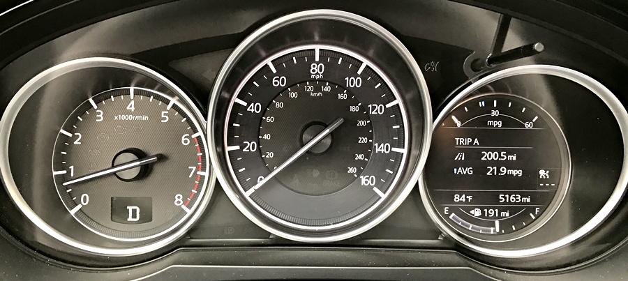 2016 mazda cx9 dashboard controls display