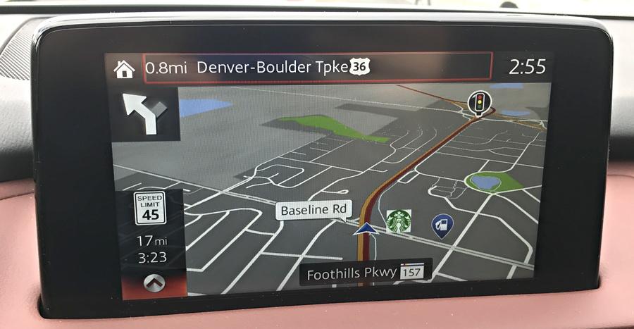 2016 mazda navigational map system