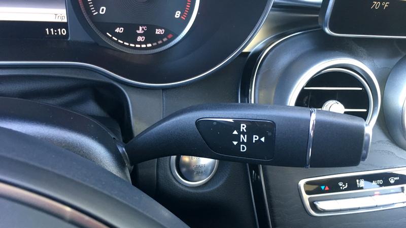 2016 Mercedes-Benz GLC-300 gear shift control