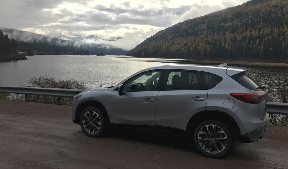 2016 silver mazda cx-5 by montana mountain lake
