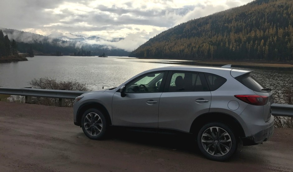2016 silver mazda cx-5 by montana mountain lake
