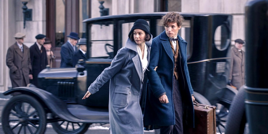 """Tina (Katherine Waterston) and Newt (Eddie Redmayne), from """"Fantastic Beasts and Where to Find Them"""""""