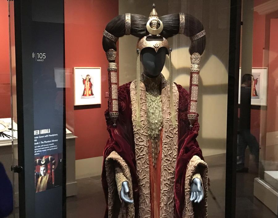 queen amidala headpiece and costume, star wars
