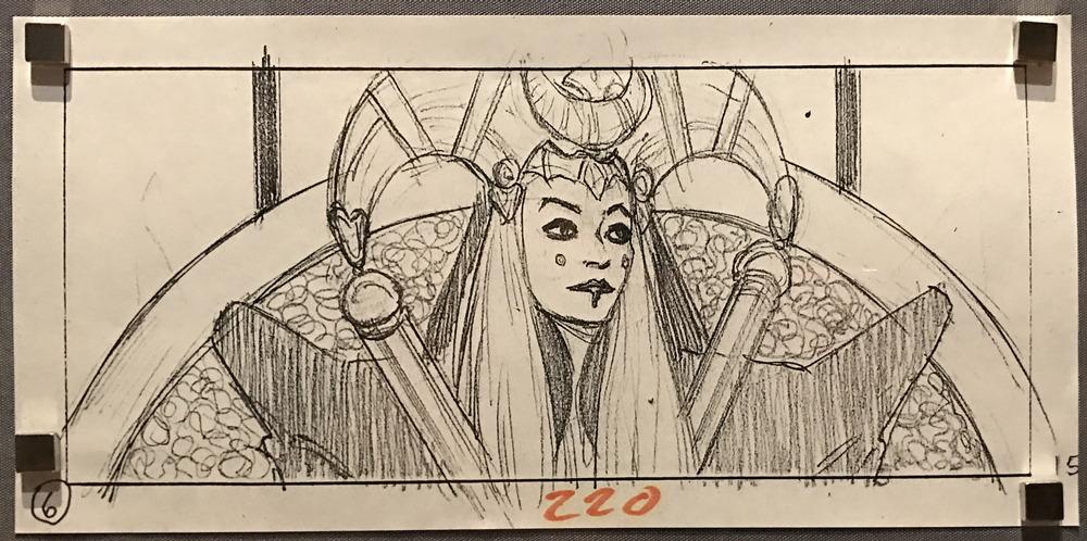 queen amidala storyboard sketch