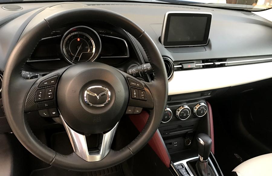 2017 mazda cx-3 front dashboard interior design