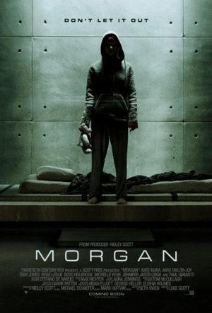 morgan (2016) sci-fi thriller movie one sheet poster