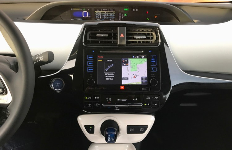 2017 toyota prius four touring front dashboard closeup