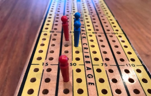 cribbage board close up