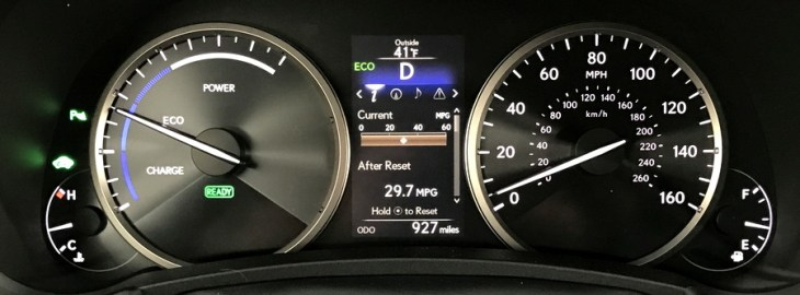 2017 lexus nx300h hybrid dashboard