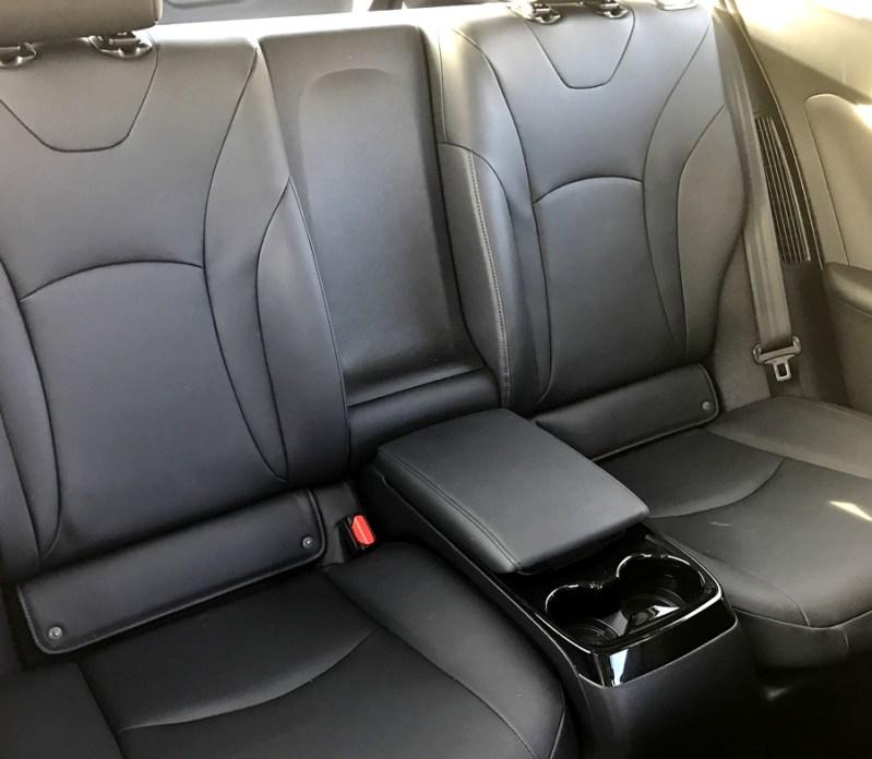 back seat, 2017 toyota prius prime