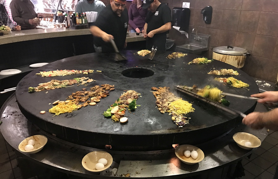 grilling at bd's mongolian bbq
