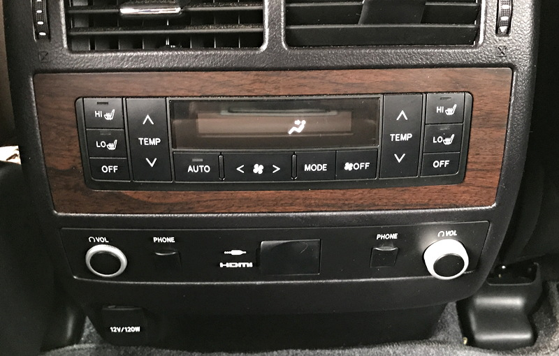 center controls, 2017 toyota land cruiser rear passengers