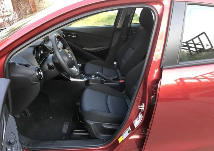 door and seat spacing, toyota yaris ia