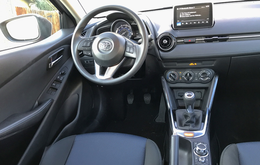 2017 toyota yaris ia interior dashboard