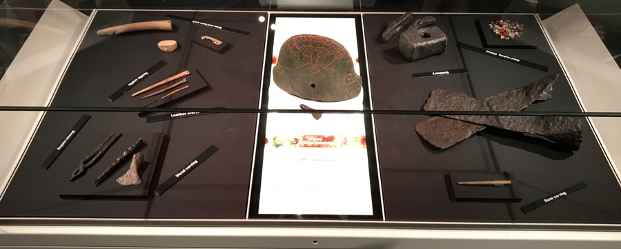 tools display, vikings exhibit, dmns