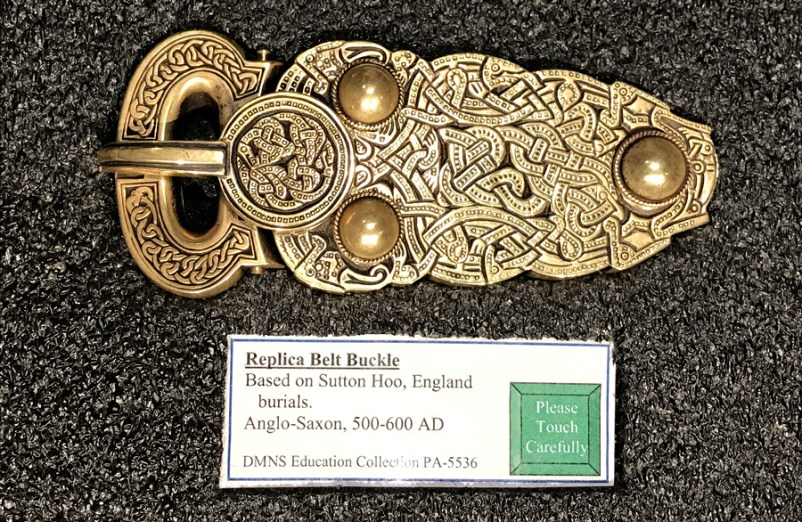 norse belt buckle, dmns viking exhibit