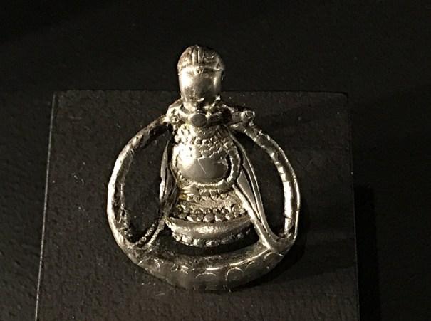 pendant, freyja, silver, vikings