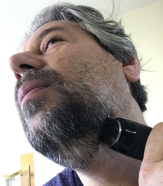 trimming my beard with the perfecter beard stubble trimmer kit remington