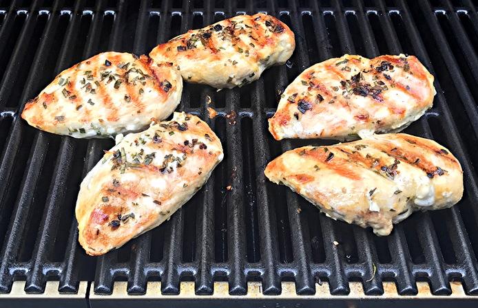 bbq chicken on grill