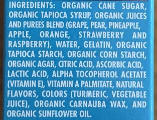 go organically fruit snack ingredients list