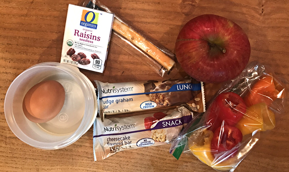 a day of food and snacks - nutrisystem