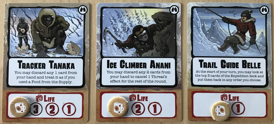 three player cards, outpost siberia
